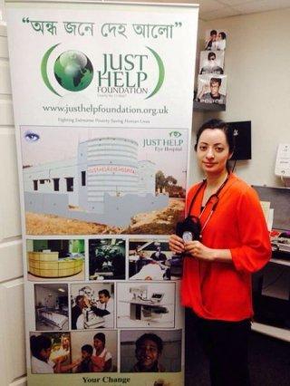 Oldham GP Dr. Farah Sheikh raises £940 for Eye Hospital